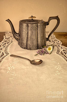 Photograph - Teapot And Spoon by Jill Battaglia