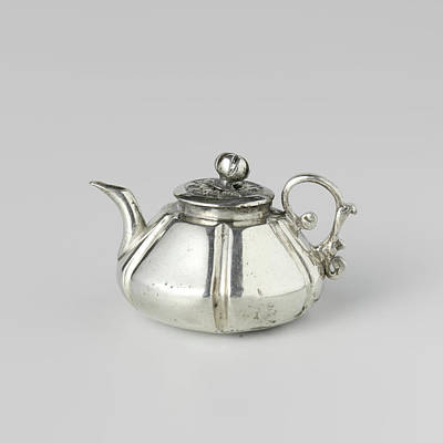 Teapot Drawing - Teapot, Attributed To Frederik Van Strant by Quint Lox