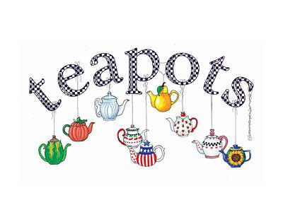 Teapot Collector Art Print