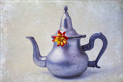 Tea Time Photograph - Teapot Dahlia by Garry Gay