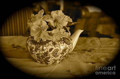 Photograph - Teapot Of Flowers by Megan Cohen