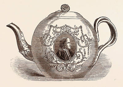 Teapot Drawing - Teapot Presented To The Rev. John Wesley Born June 17 by English School