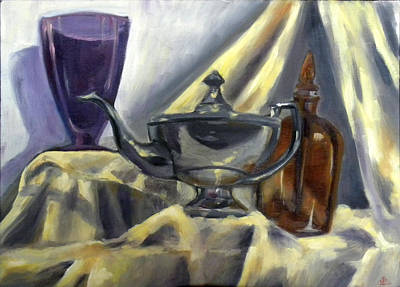 Painting - Teapot Still Life  by Nada Meeks