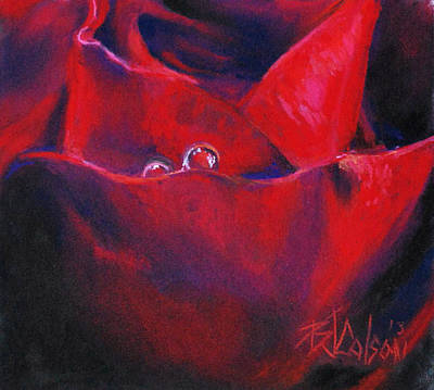 Valentine Gift Ideas Painting - Tear Drops Of Love by Billie Colson