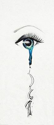 Tears Drawing - Tear Of Joy by Alisha Carrasco