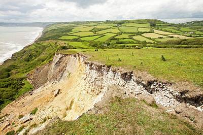 Ledge Photograph - Tear Preceding Landslip by Ashley Cooper
