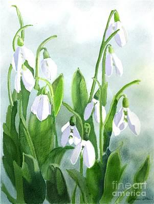 Teardrops In The Snow Art Print by Joan A Hamilton