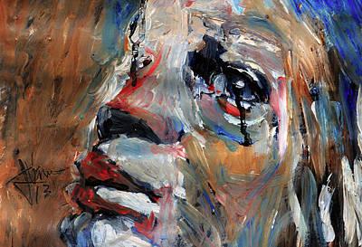 Mixed Media - Tears As Black As Ink by Jim Vance