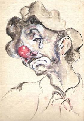 Emmett Kelly Painting - Tears Of A Clown by Shan Ungar