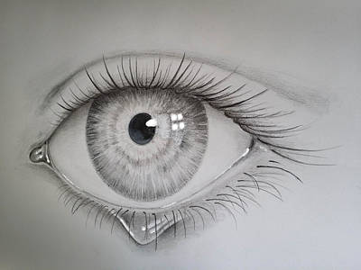 Tears Drawing - Tears Of Sadness 2 by Sean Afford