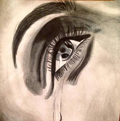 Tears Drawing - Tears Of Sorrow by Eleni Pessemier