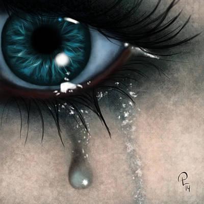 Marble Eyes Digital Art - Tears by Pia Langfeld