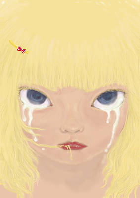 Digital Art - Tears by Yumi Kudo