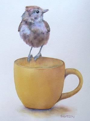 Teatime Titmouse Original by Teresa Silvestri