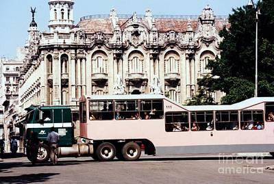 Photograph - Teatro De La Havana Cuba by Rafael Salazar