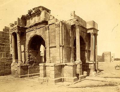 Tebessa, Arc De Triomphe Quadrifrons Caracalla Third Art Print by Litz Collection