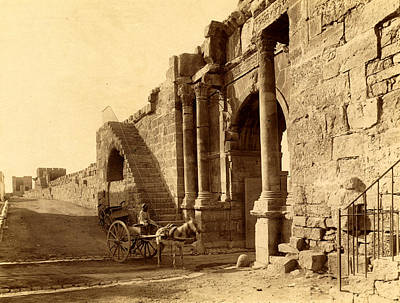 Tebessa, Arch Of Caracalla And The Walls Of The Byzantine Art Print by Litz Collection
