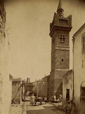 Tebessa Mosque Street Caracalla, Algiers, Neurdein Brothers Art Print by Litz Collection