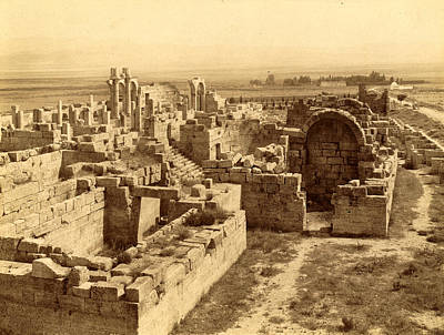 Berber Woman Photograph - Tebessa Ruins Of Byzantine Basilica, Algiers, Neurdein by Litz Collection