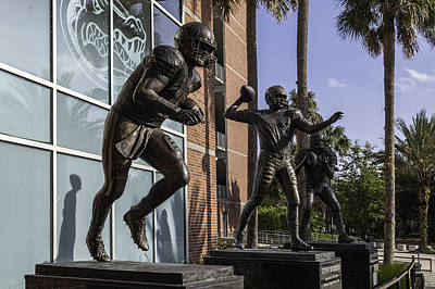 Tebow Photograph - Tebow Spurrier And Wuerffel Uf Heisman Winners by Lynn Palmer