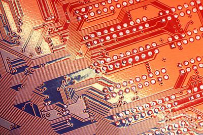 Tech Abstract Art Print by Tony Cordoza