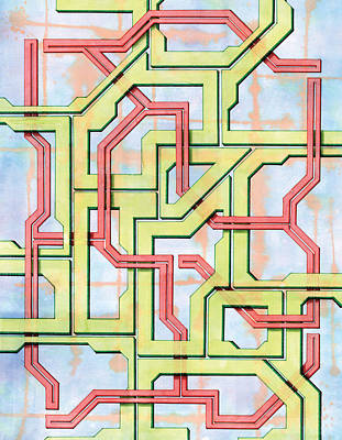 Circuit Drawing - Tech Web by Kevin Trow