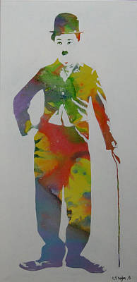 The Tramp Painting - Technicolour Chaplin by Gary Hogben