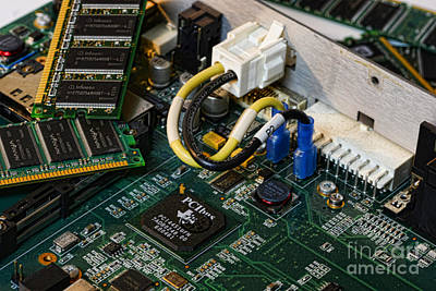 Mother Board Photograph - Technology - The Motherboard by Paul Ward