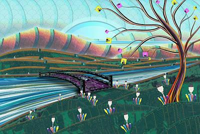Digital Art - Technoscape by Shawna Rowe
