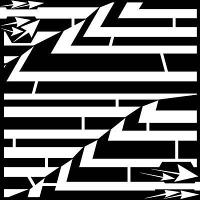 Techthonic Zig-zag Maze  Art Print by Yonatan Frimer Maze Artist