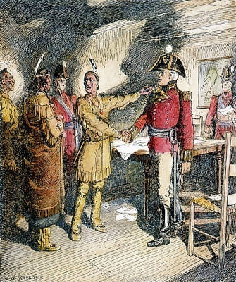 Tecumseh & Isaac Brock 1812 Art Print