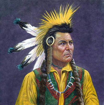 Character Portraits Painting - Tecumseh by Gregory Perillo