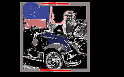 Ted Degrazia Gathering Firewood Into His Model A Ford N.d.-2013 Print by David Lee Guss
