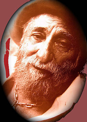 Ted Degrazia Portrait By Henry Redl Circa 1980-2013 Print by David Lee Guss