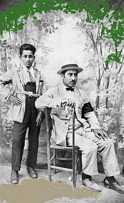 Popstar And Musician Paintings Royalty Free Images - Ted DeGrazia with  uncle  Gregorio circa 1920s-2013 Royalty-Free Image by David Lee Guss
