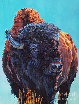 Bison Wall Art - Painting - TED by Patricia A Griffin