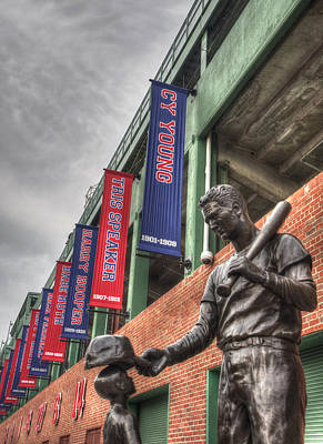 Fenway Park Photograph - Ted Williams And The Boy Statue - Boston by Joann Vitali