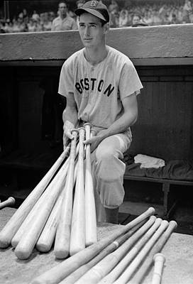 Boston Red Photograph - Ted Williams by Gianfranco Weiss
