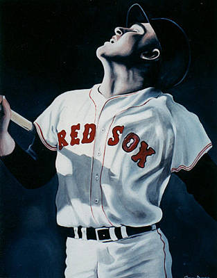 Red Sox Art Painting - Ted Williams by John Dykes