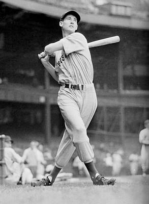 Boston Red Photograph - Ted Williams Swing by Gianfranco Weiss
