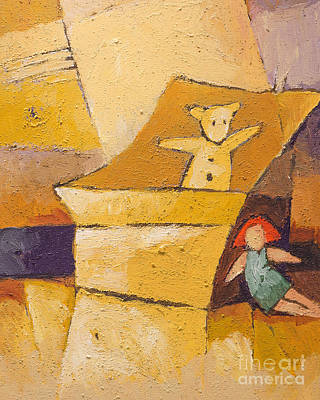 Painting - Teddy And Doll by Lutz Baar