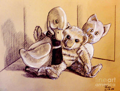 Pastel - Teddy And His Buddies by Art By - Ti   Tolpo Bader