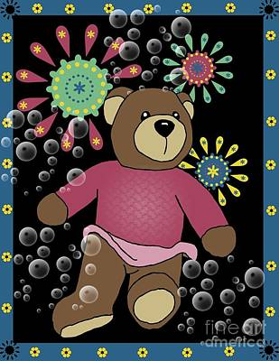 Teddy Bears Mixed Media - Teddy Bear 2 by Karen Sheltrown
