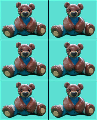 Painting - Teddy Bear Collage by Barbara Snyder