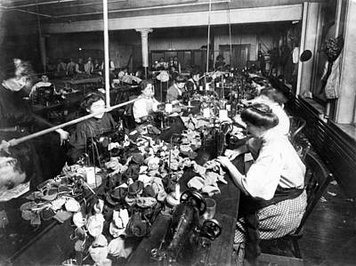 Photograph - Teddy Bear Factory, C1915 by Granger