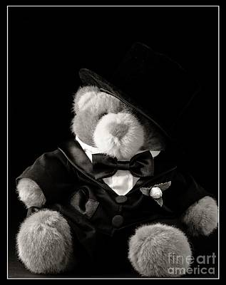 Adorable Photograph - Teddy Bear Groom by Edward Fielding
