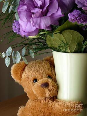 Photograph - Teddy Bear Hugs by Avis  Noelle