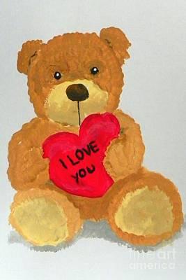 Painting - Teddy Bear by Marisela Mungia