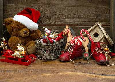 Photograph - Teddy Bears At Christmas by Doc Braham