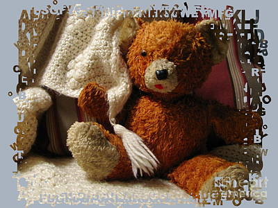 Photograph - Teddy In Blue by Marilyn Smith